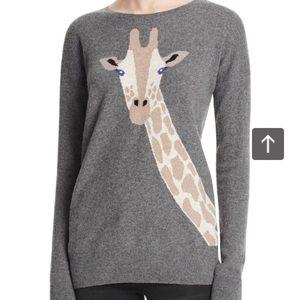 Bloomingdale's Aqua Cashmere Intarsia Sweater